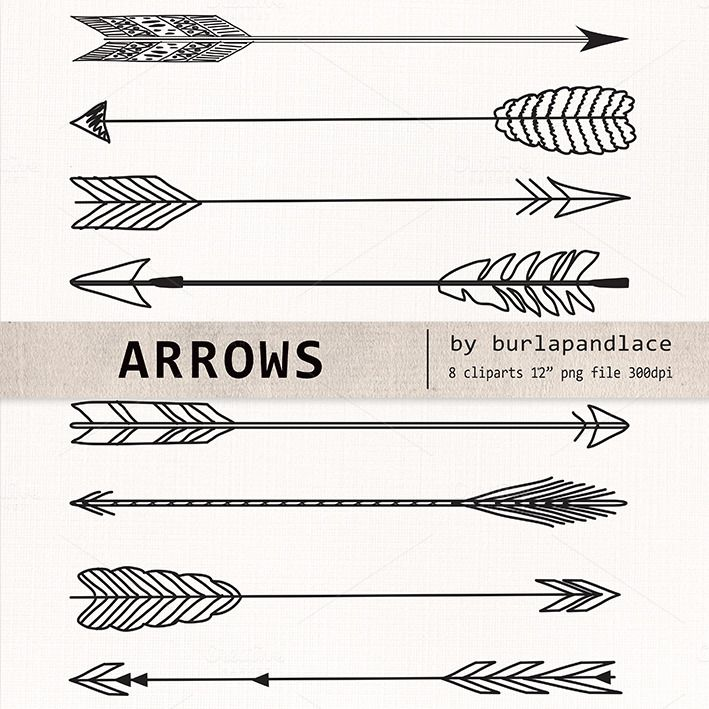 Hand Drawn clipart arrows by burlapandlace on @creativemarket