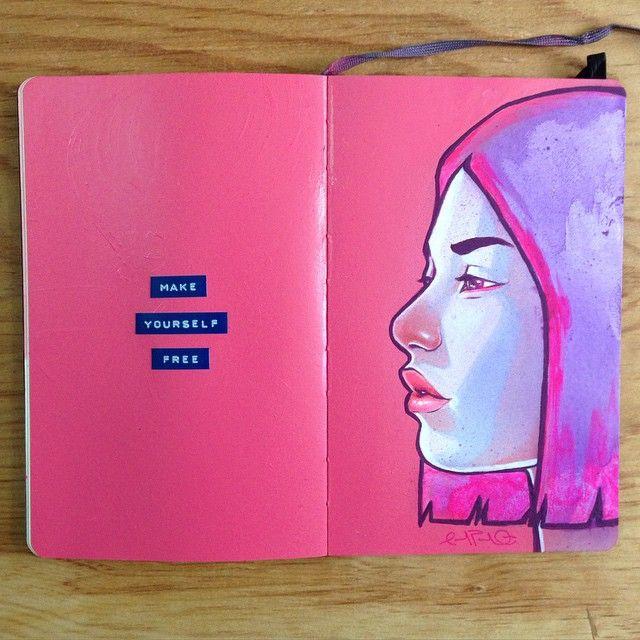 Carlos Avilas #art #journal #sketchbook                                                                                                                                                                                 More