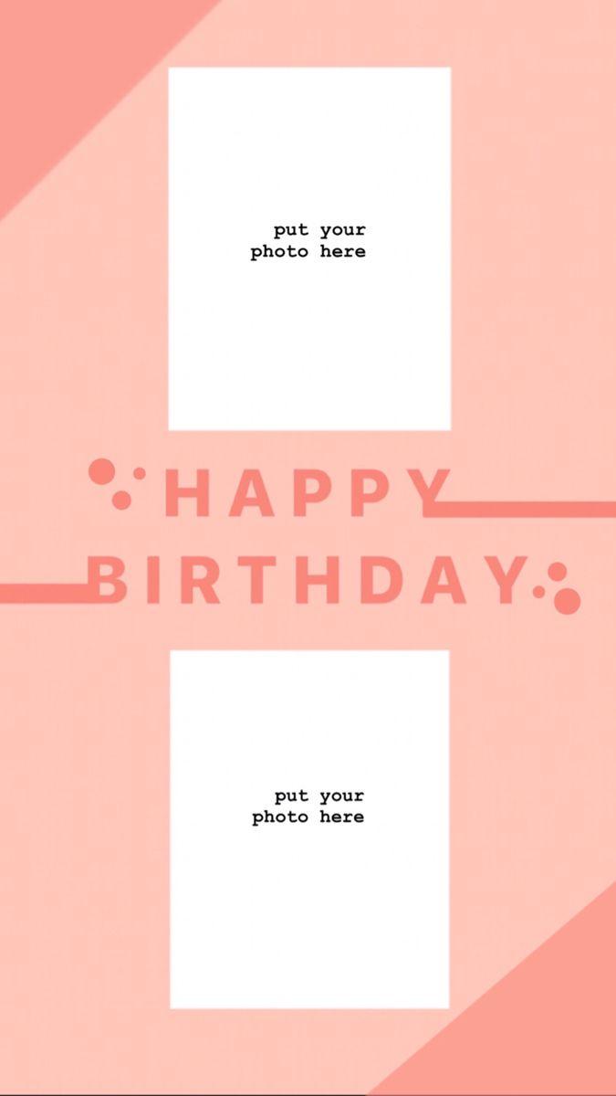 Birthday Instagram Template Ilustrasi Kartu Ucapan Jenis Huruf Tulisan Desain Pamflet