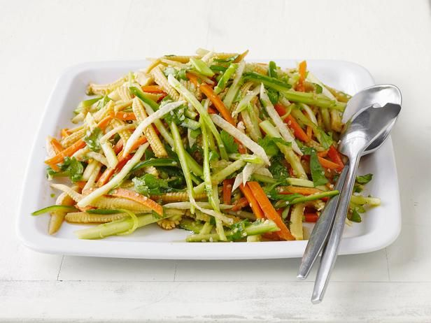Japanese Side Salad from Food Network MagazineFood Network, Baby Corn, Side Dishes, Salad Recipes, Asian Salad, Network Kitchens, Sesame Seeds, Crunchy Asian, Foodnetwork