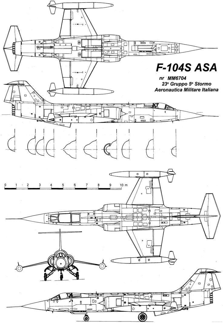 Image result for f-104 technical drawings