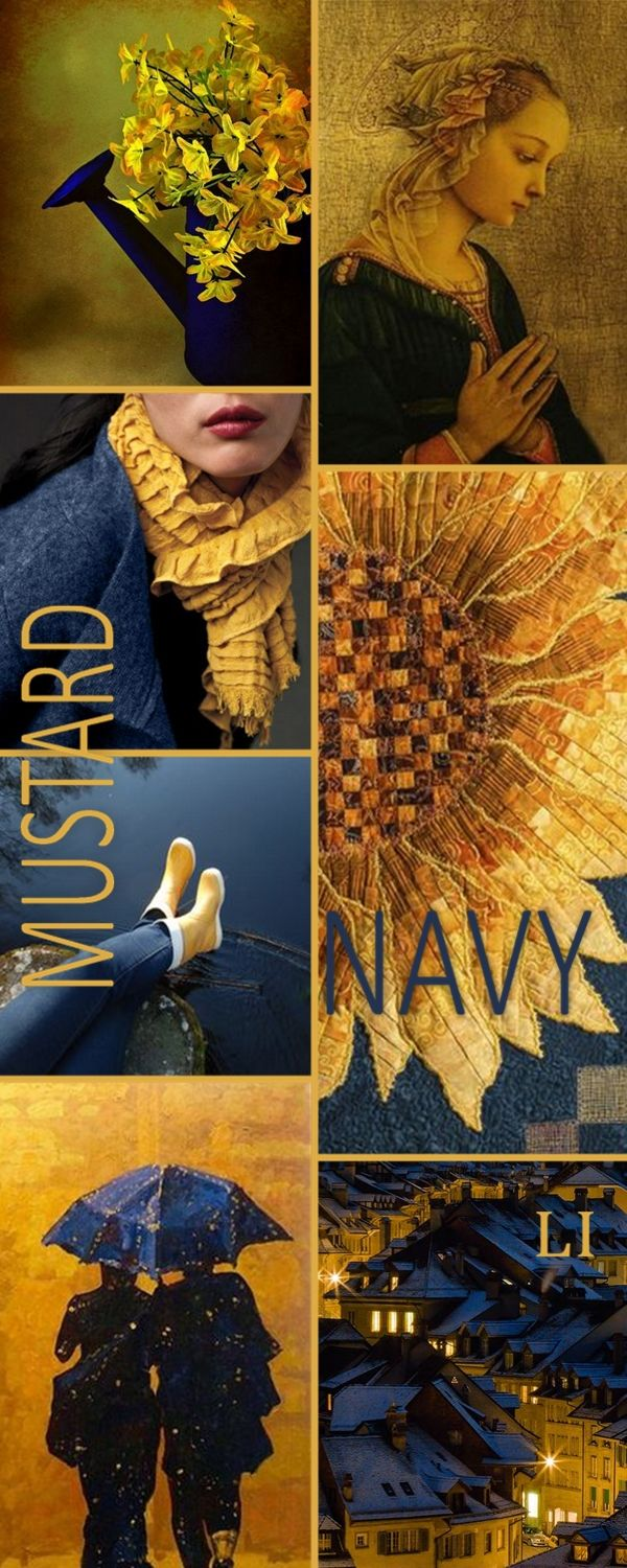 Lu's Inspiration ღ navy and mustard
