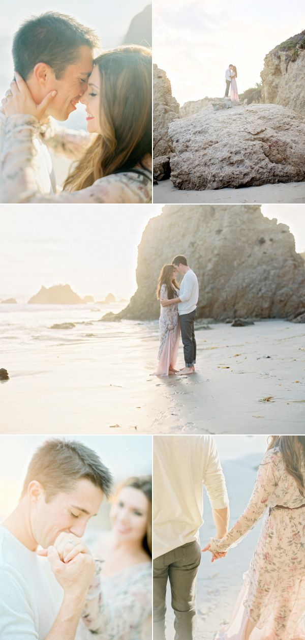 Romantic Malibu Beach Engagement Session  – Style Me Pretty