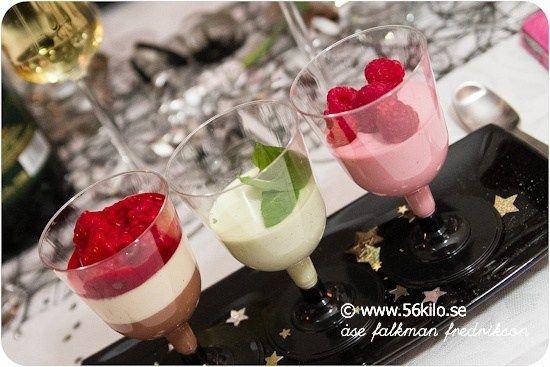 Pannacotta i fyra färger  - 56kilo - lågkolhydratkost, glutenfritt och hälsosammare val
