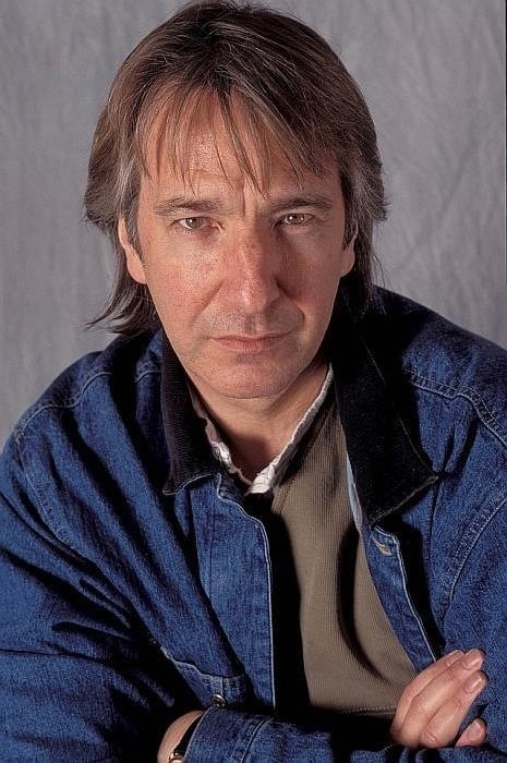 Alan Rickman - Sadly, no info was given. I wish I knew what year this was