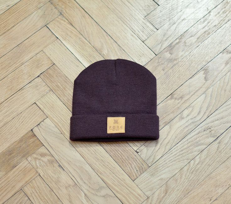 """Logo"" Leather Hat Brown"