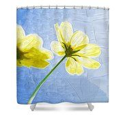 Painting Flowers Pictures Shower Curtain #art #poster #flowers #gifts
