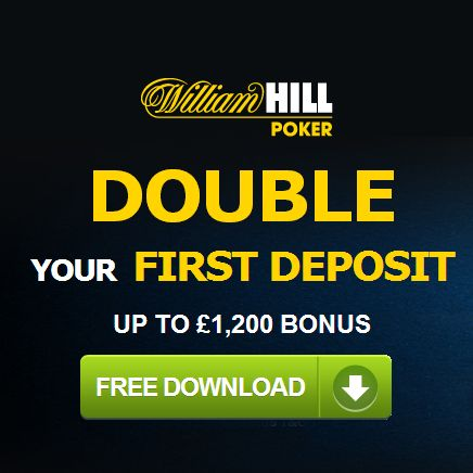 William Hill Poker: £1200 New Player Bonus