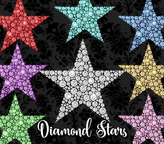 70% OFF Diamond Stars Clipart princess Rhinestone Sparkle png