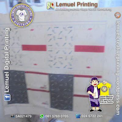 Custom Print Textile Kain Kanvas Linen Berkualitas by DIGITHING