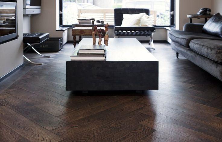 Visgraat houten vloer via Uipkes houten vloeren