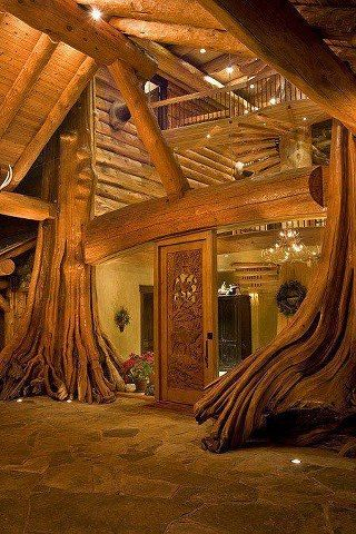 Hobbit House? Actually entrance to a tree house in British Columbia via Sun Gazing Coummunity