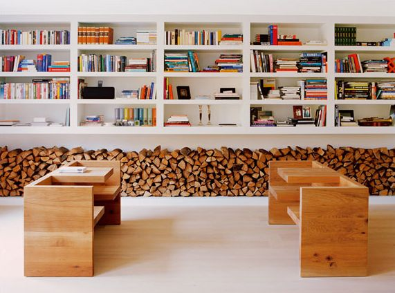 Logs always look inviting! Install a similar feature using decorative logs from www.thelogbasket.co.uk