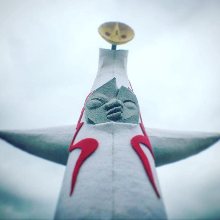 #岡本太郎 #太陽の塔  #作ってみた #パンチカーペット #フェルトパンチ #立体造形   #カラーパンチ #カラーパンチシリーズ