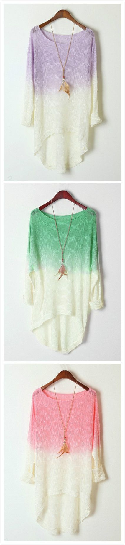 Azbro's Ombre High-low Sweater
