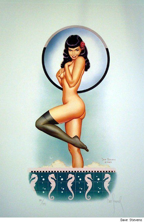 You can never go wrong with Bettie Page.