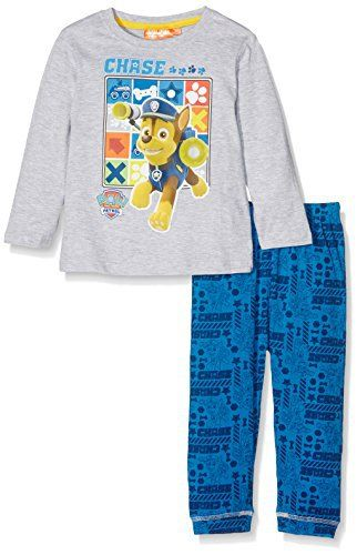 Nickelodeon Boy's Chase Paw Patrol Pyjama Sets An official licensed merchandise.An official licensed merchandise.Soft Cotton Material 140 GR/M².Double RIB 1×1 cm with Elastane.Trousers with elastic waistband.  Blouses, coats, hoodies, nightwear, Shirts, t-shirts for womens, Tops, vest top womens