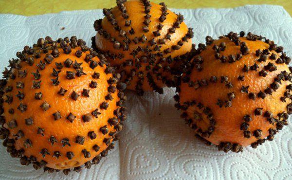 orangen zu weihnachten nelken knospen fertig