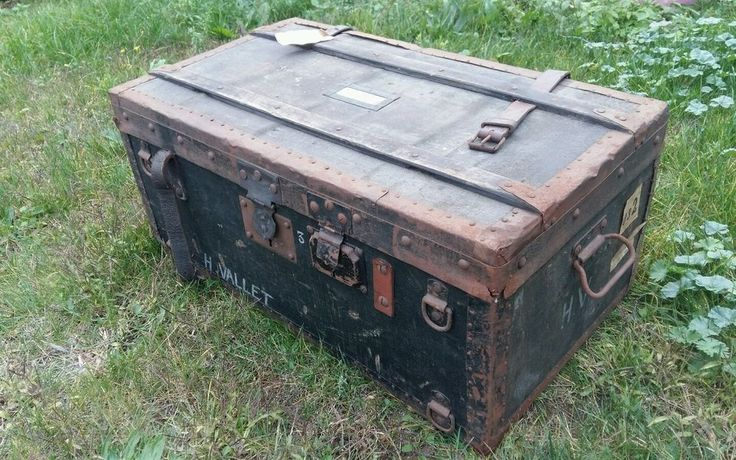 valise caisse bagage militaire ancienne