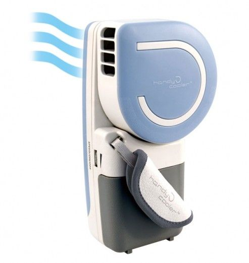 Handy cooler portable small fan and mini air-conditioner unit