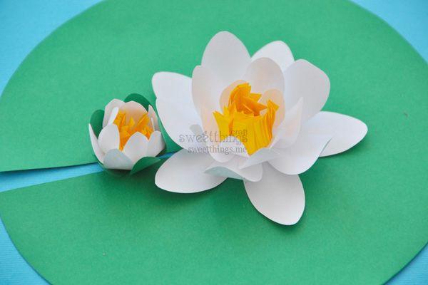 Водяные лилии из бумаги | Sweet Things Craft | Журнал Милые Штучки
