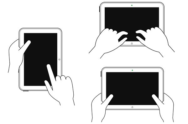 how people hold tablets