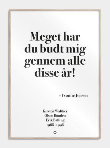 'Olsen banden' plakat: Meget har du budt mig gennem alle disse år!