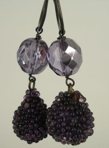 """vintage glas """"sukker"""" perler og vintage krystal"""