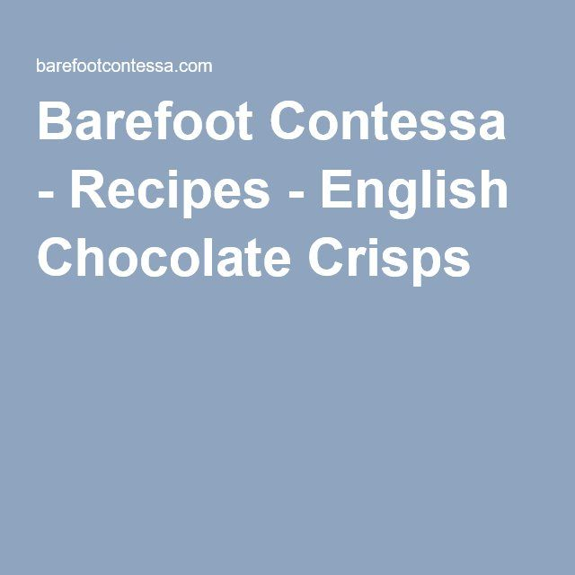25 best english chocolate ideas on pinterest Barefoot contessa recipes