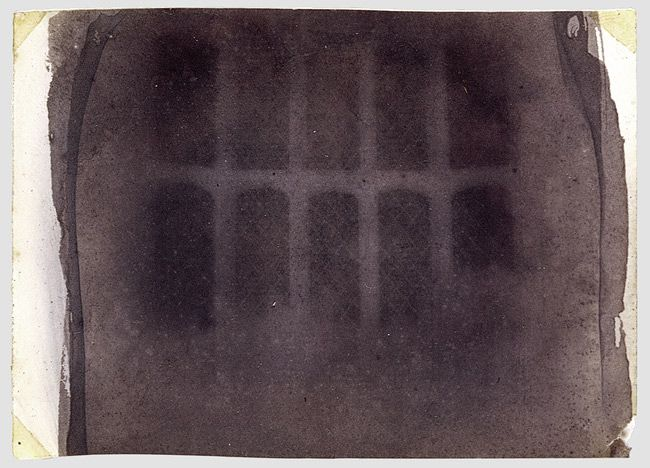 William Henry Fox Talbot, The Oriel Window, South Gallery, Lacock Abbey, Photogenic drawing negative, 1835 or 1839