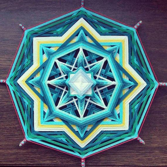 Mandala Ojo de Dios El mar interno por BeHappyMandalaShop en Etsy