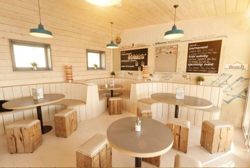 The Yellowave Barefoot Café is located on Brighton beach between the Marina and Pier.
