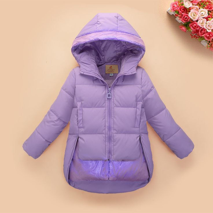 2016 new children fashion duck down coat ultra light girls' down & parkas thin and light children coats