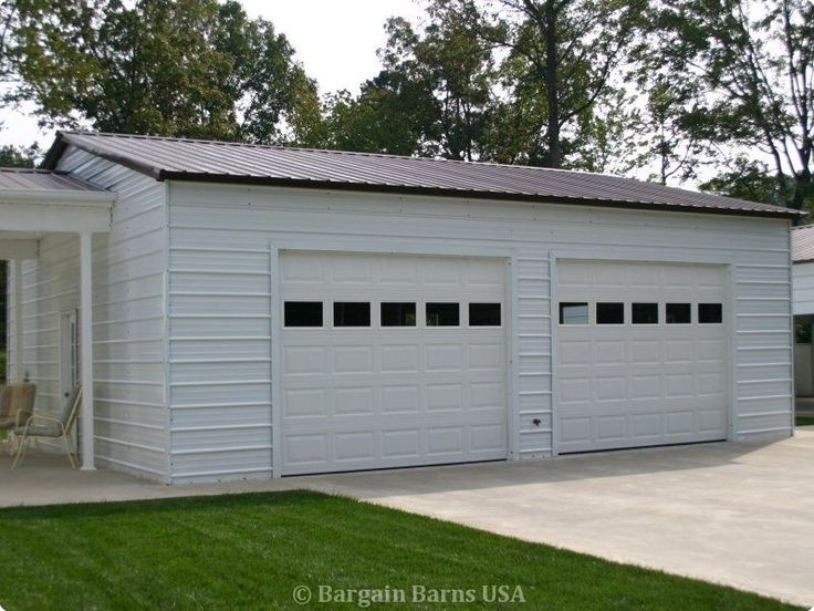 16 best metal garages steel garages metal garage kits for 2 bay garage kit