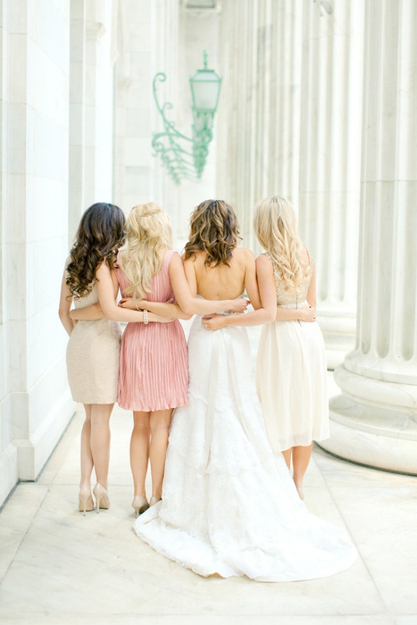 Different dresses for Bridesmaids