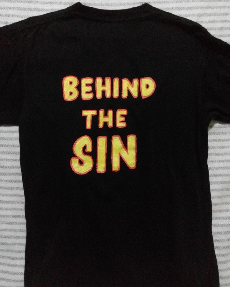 behind the sin #DIY #graphic  #onback #shirts