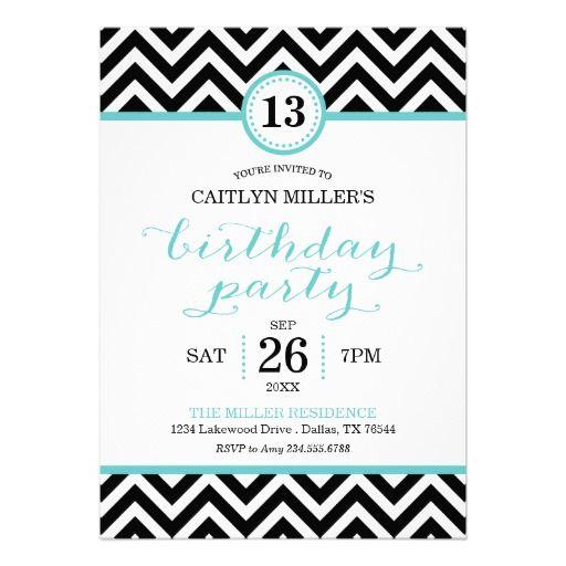 Trendy Zigzag Chevron Birthday Party Invitation | Visit the Zazzle Site for More: http://www.zazzle.com/?rf=238228028496470081
