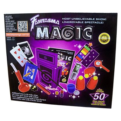 This is a wonderful kit for young magicians 6 and up who want to learn real magic! You'll learn how to do over 50 Unbelievable magic tricks including tricks with the Cups & Balls, the oldest and most famous trick in magic, The Coin Paddle, show two sides of a small paddle and a coin appears on one side, then disappears, then appears on both sides  ... get it here: http://www.wizardhq.com/servlet/the-13839/most-unbelievable-magic-set-by-fantasma-magic/Detail?source=pintrest