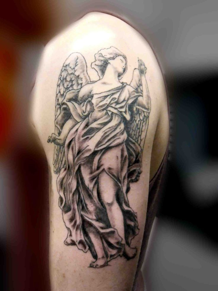 Guardian angel tattoos google search tattoos for Guardian angel half sleeve tattoos