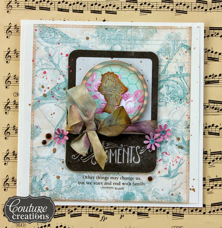 Couture Creations: The Moments Card and Matching Envelope by Jowlina Nolte | #couturecreationsaus #decorativedies #cards
