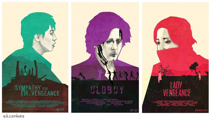 Vengeance trilogy (Sympathy for Mr. Vengeance, Oldboy & Sympathy for Lady Vengeance) by a.k.czinkota