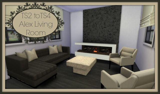 Sims 4 - TS2 to TS4 - Alex Living Room
