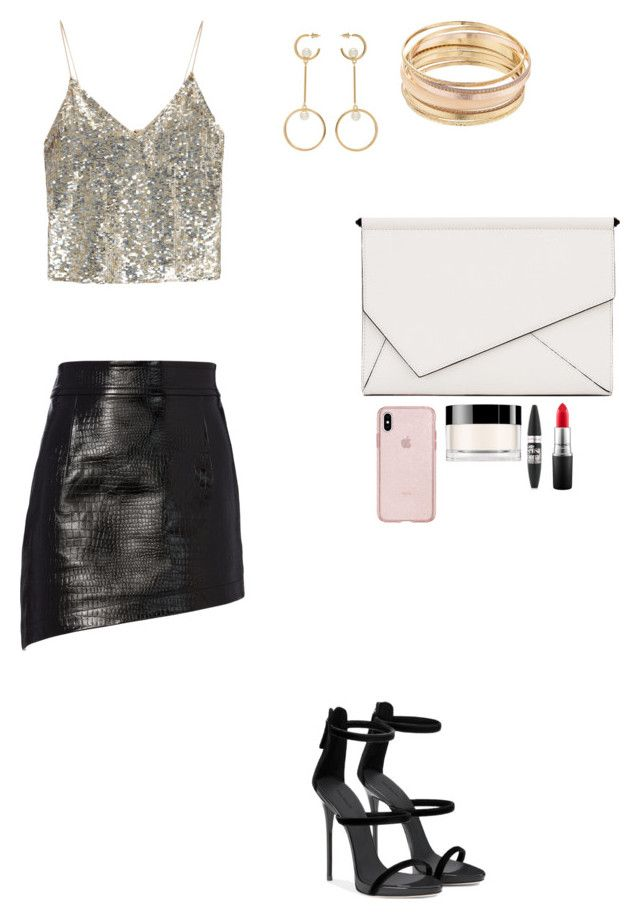 """""""Girls Night Out"""" by skylarmuffin on Polyvore featuring Helmut Lang, Alice + Olivia, Chloé, Kendall + Kylie, Giorgio Armani, Maybelline, MAC Cosmetics and Mudd"""