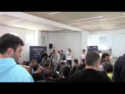 HACKFORGOOD CANARIAS 2016. PRESENTACIONES DE PROYECTOS.  El HackForGood Canarias 2016 se celebró en el Espacio polivalente del Campus del Obelisco, del 25 al 27 de febrero de 2016.