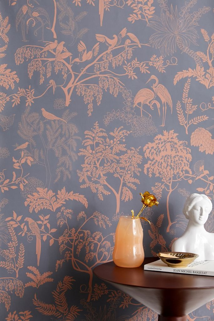Birds In Trees Toile Removable Wallpaper Stick On Wallpaper Removable Wallpaper Buy Wallpaper Online