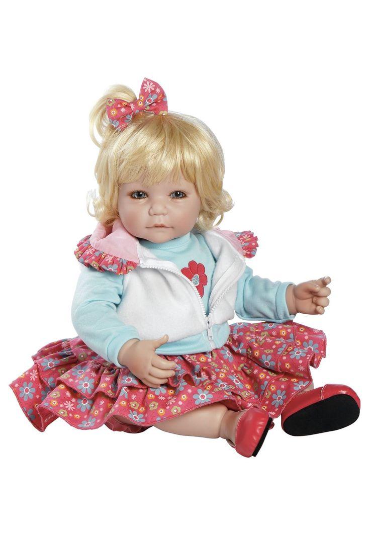 "Adora Tickled Pink Toddler Time Baby Doll Vinyl 20"" Blonde Hair Blue Eyes http://www.toniscollectibles.com/dolls/adora-tickled-pink-toddler-time-baby-doll-vinyl-20.html"