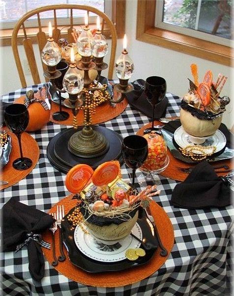 Best 25 halloween table settings ideas on pinterest halloween table decora - Deco table halloween ...