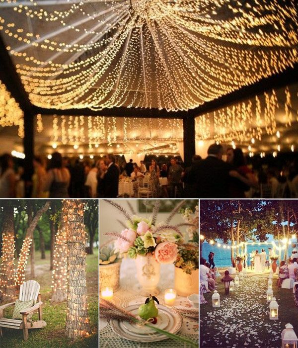 Hot Summer Wedding Ideas for 2014 & Best 25+ Night wedding lighting ideas on Pinterest | Outdoor ... azcodes.com