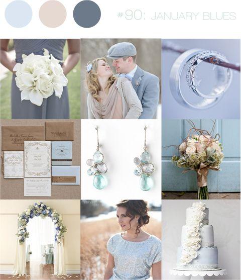 Superb  Blues Warm Winter Wedding Inspiration Board Www.bearcreekretreat.com