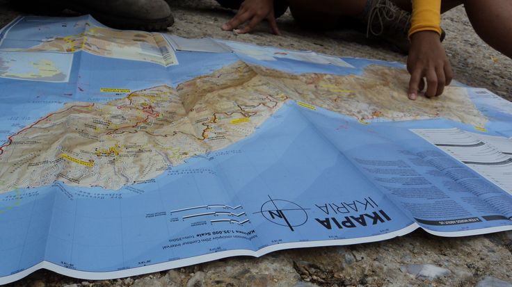 Where to now?? No wories! Let's take a look at our map- hiking @ Ikaria islanid, Greece